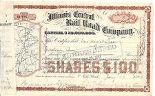 ILLINOIS CENTRAL RAIL ROAD COMPANY......1885 COMMON STOCK CERTIFICATE