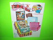 Williams TRAVEL TIME Original 1975 Flipper Game Pinball Machine Promo Flyer