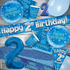 Blue Star 2nd Birthday Party Tableware, Decorations, Balloons, Napkins