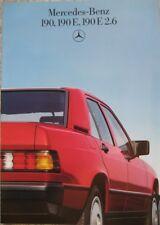 Prospekt  Mercedes W201 190 - 190E - 190E 2,6 -  12/85