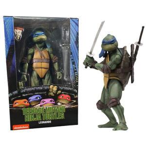 """NECA Teenage Mutant Ninja Turtles TMNT 1990 Movie Leonardo 7"""" Action Figure New"""