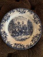 Large Vintage Johnson Brothers Platter Coaching Scene Stoke On Trent  12""