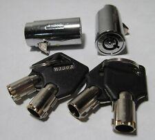 2 Vending Machine T Handle Plug Locks With 4 Keys Keyed Alike 1 12 X 34