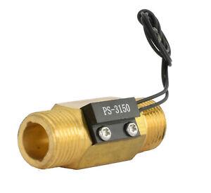 """durchflusssensor durchflussschalter AG 1/2"""" 10W 0,5A normal geöffnet 12V 24V"""