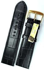 24mm LOUISIANA vero CINTURINO in pelle di coccodrillo ALLIGATORE cinturino