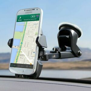 360° Car Windshield Mount Holder Stand For iPhone Samsung Mobile Cell Phone GPS