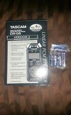 TASCAM DR-05 Linear PCM Handheld Portable Digital Audio Recorder Brand New E2B1
