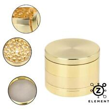 40mm Gold Metal Aluminium Grinder 4 Part Tobacco Herb Crusher Muller Golden EU