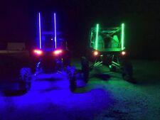 4ft quick disconnect BLUE LED light whip SXS ATV UTV rzr 4 wheeler RZR TERYX