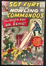 SGT.FURY HOWLING COMMANDOS #8 1964 STRONG VG/FN BARON ZEMO,1ST PERCIVALPINKERTON
