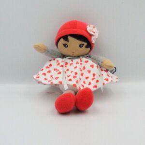 Doudou poupée blanc rouge gris coeurs KALOO - Poupée - Lutin Classique