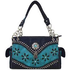 Western Purse Laser Cut Tooled Leather Country Handbag Women Shoulder Bag Wallet