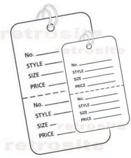 Coupon Price Tags With Strings White 2 Part Perforated Strung Large Small