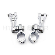 "1"" Motorcycle Highway Offset Foot Peg Mounts For Harley Sportster Dyna Softail"