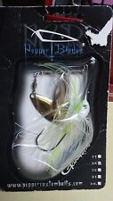White/Yellow Spinner Bait.Double Gold Willow Blade ,3/8 oz