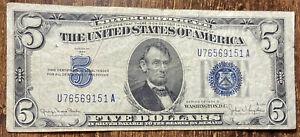 1934-D $5 - Silver Certificate - Crisp Note