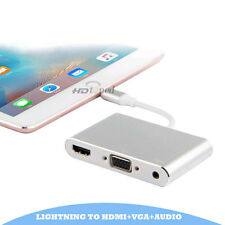 Lightning to HDMI/VGA/audio adapter for iphone 5s/ 6/ 6S/7 plus converter cable