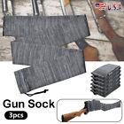"3 Pack Shotgun/Rifle Socks Hunting Gun Sleeve Silicone Treated Gray 55"" in US"