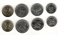 Uganda 2015 Set of 4 Coins UNC 50 100 200 500 Shillings Fish Animals