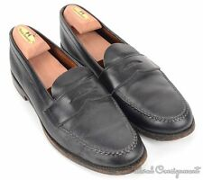 BROOKS BROTHERS by ALDEN Black Solid Leather Penny Loafer Dress Shoes - 10.5 B/D