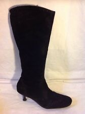 Tamaris Black Knee High Suede Boots Size 39