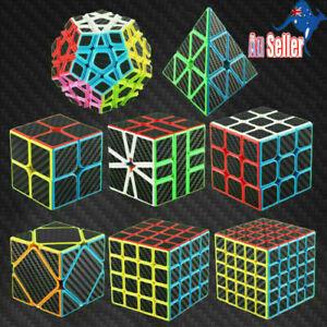 Magic Cube 2x2 3x3 4x4 5x5 Super Smooth Fast Speed Puzzle Rubics Megaminx