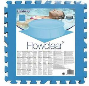 """8 x Swimming Pool Floor Protector Ground Tiles Under Pools and Hot Tub 20"""" x 20"""""""