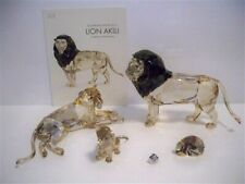 SWAROVSKI SCS AE AKILI ( LION ) MOTHER LION & LION CUB SET + PPWGHT & PIN BNIB
