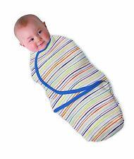 Summer Infant Cotton SwaddleMe (Blue Wavy Stripe, Small) - Brand new