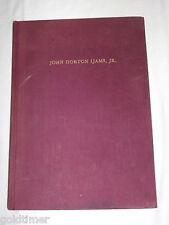 VINTAGE 1948 WWII  LT JOHN HORTON IJAMS JR B17 PILOT KIA 1943 MEMORIAL BOOK