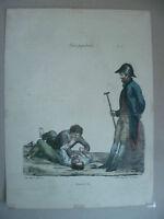 Lito S.XIX Langlume - Y Es Tu? Là. Por Pigal Edme Jean Circa 1822