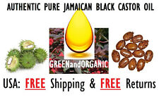 AUTHENTIC Organic Premium 100%Pure JAMAICAN BLACK CASTOR OIL 8 oz Plastic Bottle
