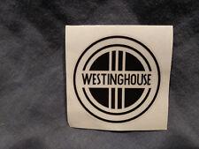 VIntage Westinghouse Small Fan Badge Restoration Decal ~ Black