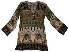 Indian Cotton Blouse Top Boho Tunic Hippie Ethnic Blusa Retro Gypsy Women Ehs