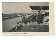 Horse Racing Race Track Racetrack State Fair SYRACUSE NY Vintage Postcard