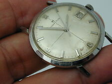 VINATGE 1966 HAMILTON ALL STAINLESS STEEL DATE WRIST WATCH RUNNING