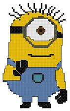 Counted Cross Stitch Pattern, Despicable Me Minion - Free US Shipping
