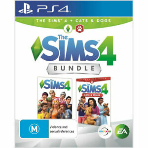 The Sims 4 + Sims 4 Cats & Dogs Bundle PS4 Playstation 4 Brand New Sealed