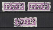 1956 Allemagne Orientale  3 timbres de service oblitérés / T1077