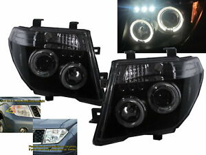 PATHFINDER R51 MK3 05-10 5D LED Halo Projector Headlight Black for NISSAN RHD