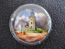 ANTIQUE VICTORIAN SOUVENIR GLASS PAPERWEIGHT - THE LIGHTHOUSE CROMER NORFOLK