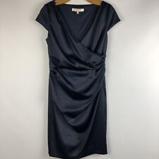Evan Picone Dress Women's Size 8 Satin Cocktail, Blue, Lined, q