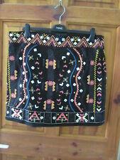 stunning embellished patterned short skirt size 16 from next