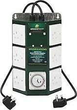 Green Power 6CT 6-Way 4000-Watt Contactor Eco-Switch with Grasslin Timer