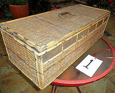 Wicker Screen Racing Pigeon 6 Stall Bird Vtg Carrier Box Crate Cage Transport #1