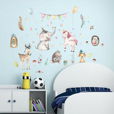 Watercolor   Animals Wall Sticker Bedroom Cupboard For Kids Rooms DecorFO