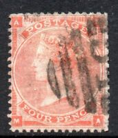 G.B.: 1862 QVI 4d SG 80 used