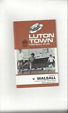 Luton Town v Walsall 1969/70 Football Programme + League Review