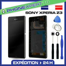 ÉCRAN LCD + VITRE TACTILE COMPLET SONY XPERIA Z3 NOIR + OUTILS