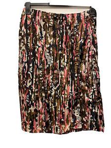 MARNI Abstract Print Multicoloured Silk Skirt Size 46/UK 14 16 BNWT